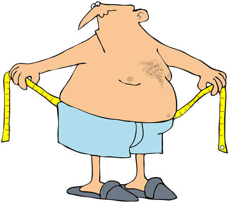 Man zijn taille meting  Stockfoto