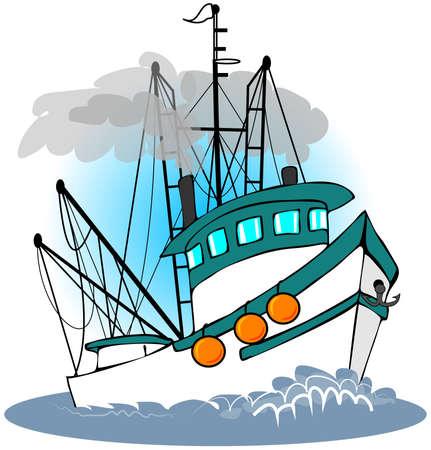 ship anchor: Fishing Trawler