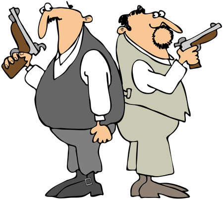 Dueling Men photo