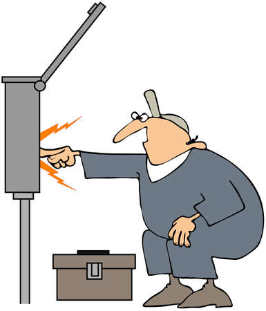 Electrician Sparks Stock Photo