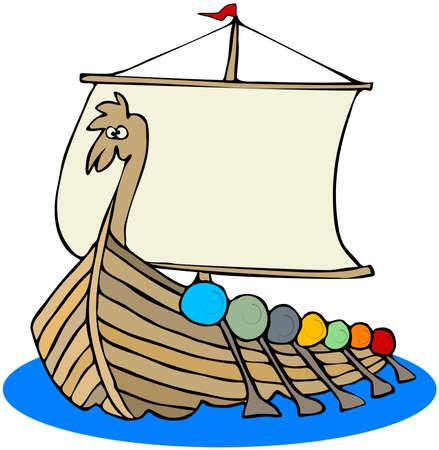 Viking Ship Фото со стока