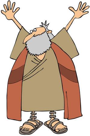 commandment: Moses Stock Photo