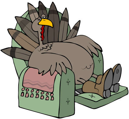 recliner: Tired Turkey In A Recliner