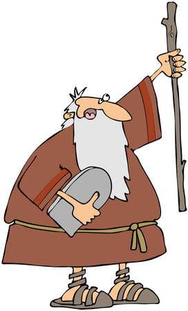 commandment: Moses with the Ten Commandments