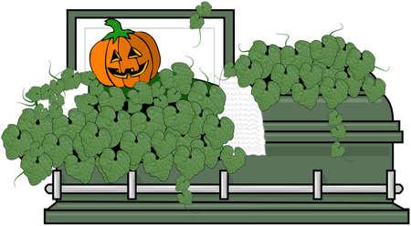 Jack-o-lantern Coffin