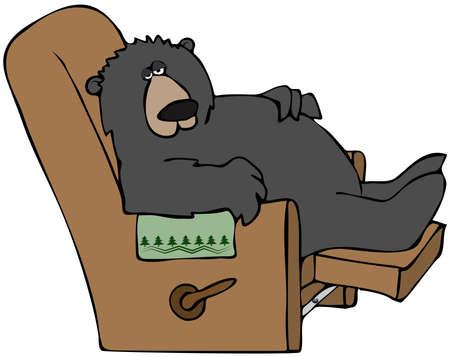 recliner: Hibernating Bear