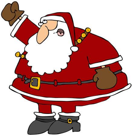 Santa Shaking His Fist Stock Photo - 11429825