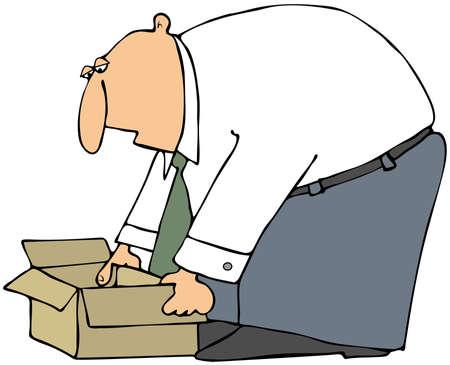 Man Picking Up A Box