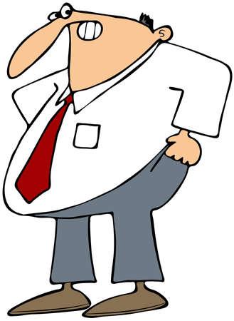 girth: Man Pulling Up His Pants