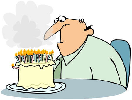 Cake With Too Many Candles Stock Photo - 12336448