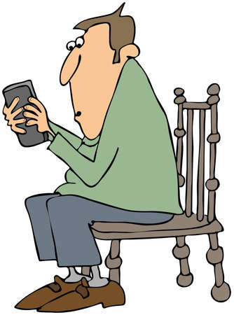Man texting on a cellphone