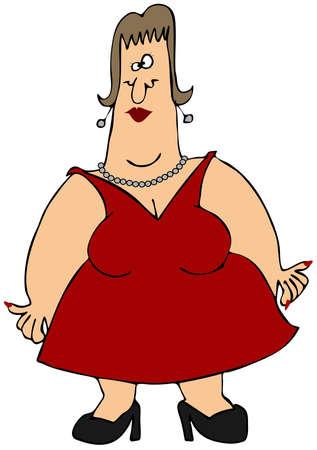 mujer gorda: Mujer con los brazos gordos Foto de archivo