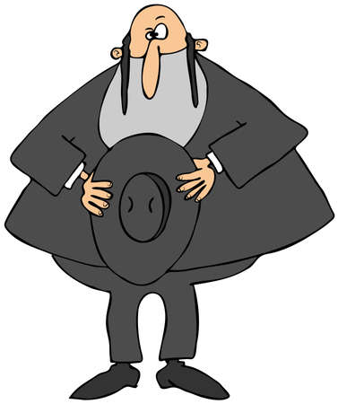 rabbi: Rabbi holding his hat