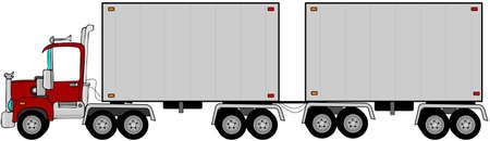 Double trailer Stock Photo