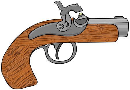 Zwart poeder pistool