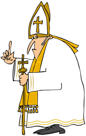 mitre: Pope in white