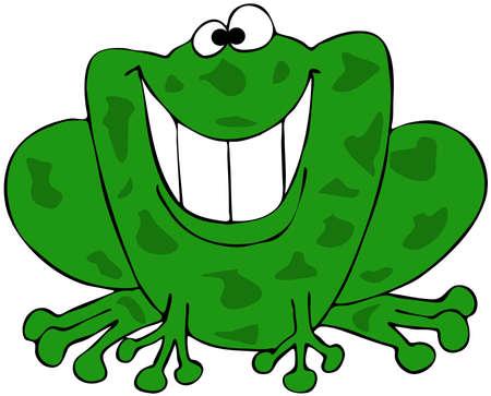 Smiling frog Фото со стока