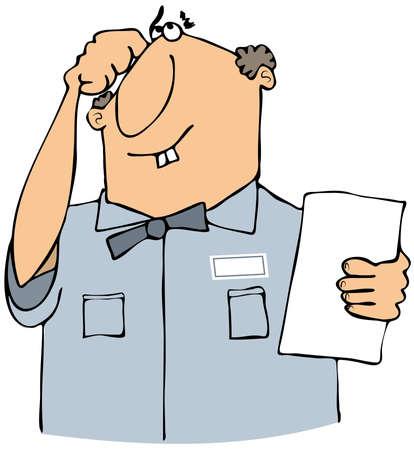 serviceman: Puzzled serviceman