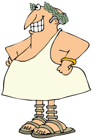 toga: Smiling man in a toga Stock Photo