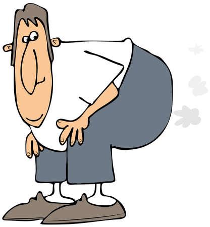 fart: Man passing gas