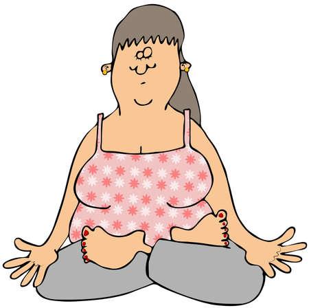 Woman meditating Stok Fotoğraf - 20881831