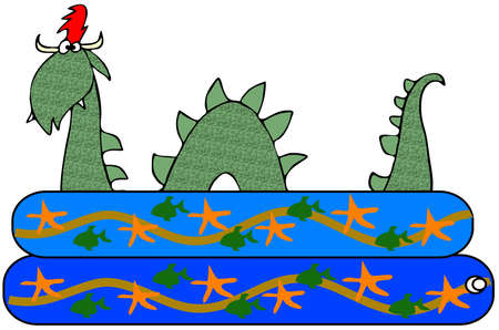 Sea serpent in a kiddie pool Stock Photo - 21006481