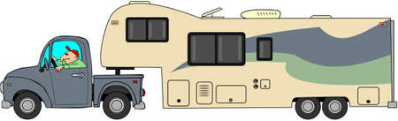 Toyhauler trailer Stock fotó