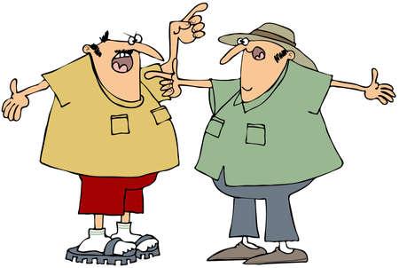 dispute: Two men arguing  Stock Photo