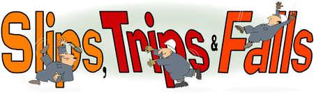 accident cartoon: Slips, Trips   Falls