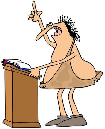 sermon: Caveman preacher