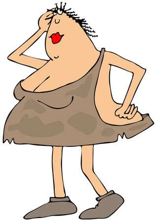 seductive woman: Seductive cave woman