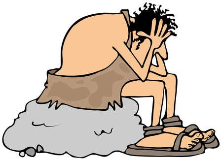 Depressed caveman