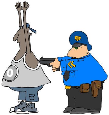 suspect: Cop arresting a suspect