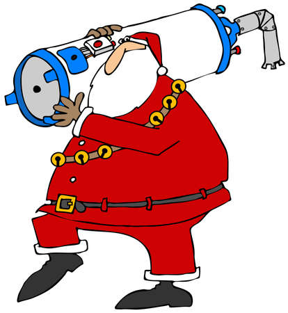 heater: Santa carrying a water heater