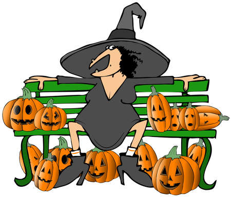 wart: Witch on a bench
