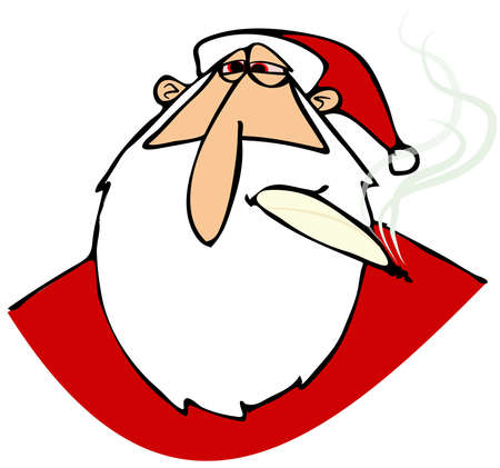 red eyes: Stoned Santa with red eyes