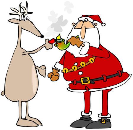 reno: tuber�a olla renos iluminaci�n de Santa