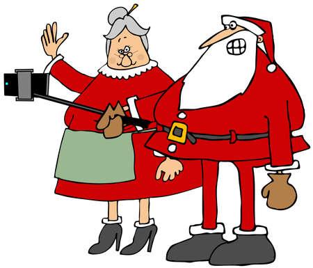 mrs santa claus: The Clauss selfy