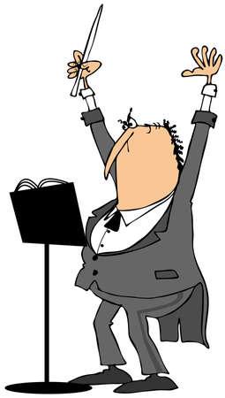 オーケストラの指揮者 写真素材