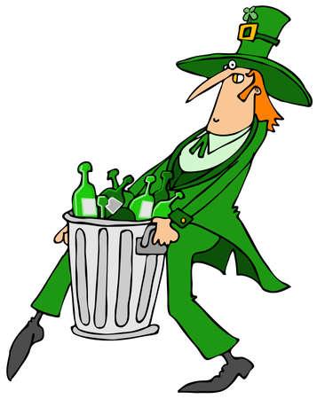Leprechaun taking out the garbage