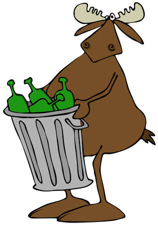 Moose nemen van het vuilnis