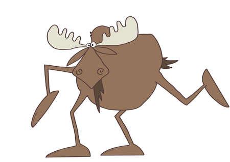 Langbenige moose Stockfoto