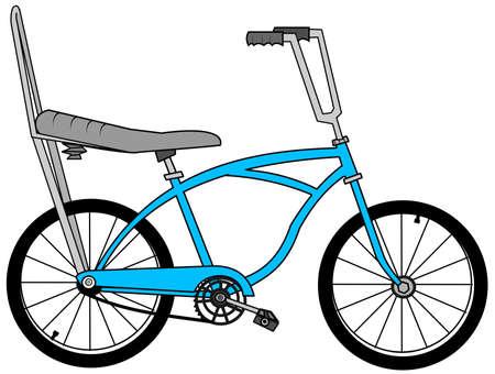 バナナの座席を持つ自転車 写真素材