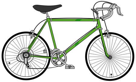 pedaling: Ten speed bicycle Stock Photo