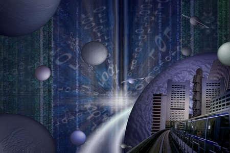 unreal: Futuristic city