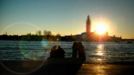 Sunset in Venezia photo