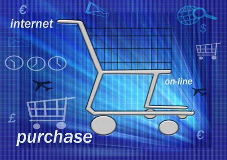 pushcart: E-commerce Stock Photo