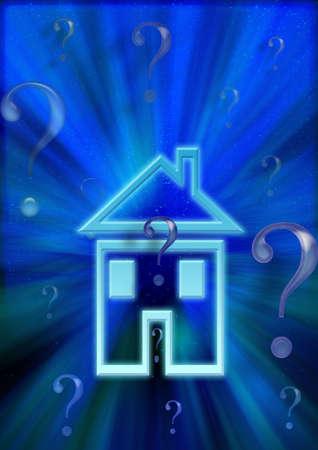 housing search: chiedendo questione, alla ricerca di risposte. Illustrazione che hanno diverse meanning sulla questione