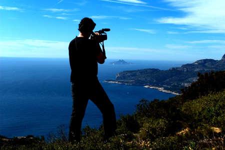 filming: Camera man