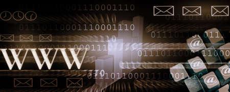 schöpfung: Website-Header das Betrachten, das Internet und die neue Technologie der Kommunikation  Lizenzfreie Bilder
